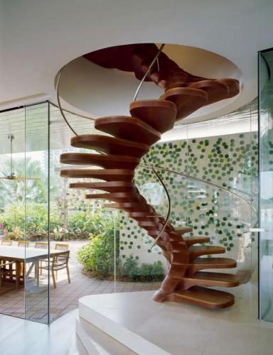 escalier métal colimaçon